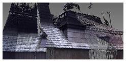 Model dreveného kostolíka v Miroli spracovaný 3D Scanovaním